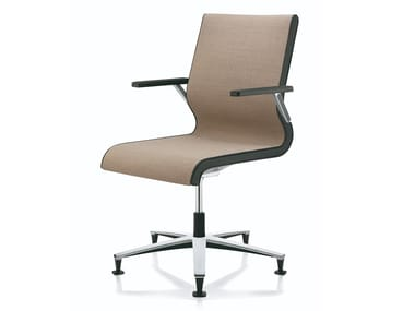 Swivel fabric office chair with armrests LACINTA COMFORT LINE | Office chair with armrests
