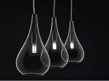 Lámpara colgante de vidrio soplado con luz directa LACRIMA MINI | Lámpara colgante
