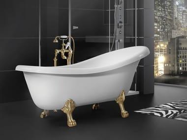 Freestanding Oval Polymere Concrete Bathtub On Legs LADYA 1700N