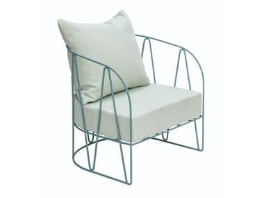 Garden armchair with armrests LAGARTO | Armchair