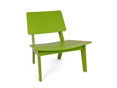 Garden recycled plastic easy chair LAGO LOUNGE