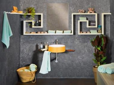 Mensola bagno in legno LAGOLINEA | Mensola bagno