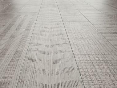 Pavimento/rivestimento in gres porcellanato effetto legno LAGOM COATED WHITE