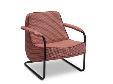 Fabric easy chair with armrests LAGOM | Cantilever easy chair