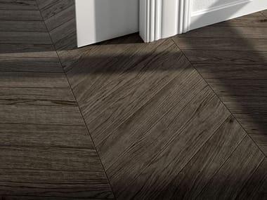 Pavimento/rivestimento in gres porcellanato effetto legno LAGOM NATURAL MOKA