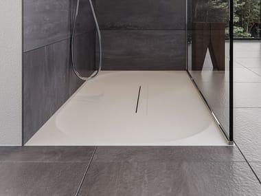 Receveur de douche rectangulaire en Meridian Solid Surface® LAGOON-SH01