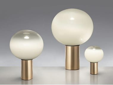 LED blown glass table lamp LAGUNA