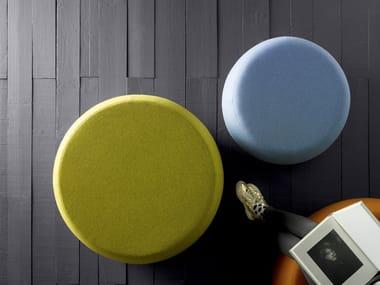 Upholstered fabric pouf LAIKA