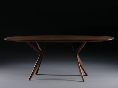 Oval solid wood dining table LAKRI | Oval table