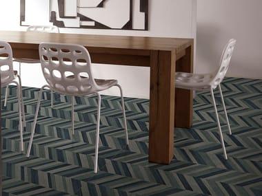 Pavimento in gres porcellanato effetto legno LAMELLE - WENGE