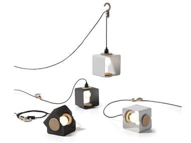 Industrial style swivel direct-indirect light powder coated aluminium pendant lamp LAMPANIA | Aluminium table lamp