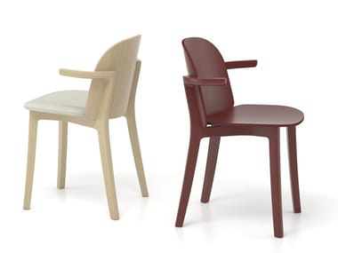 Solid wood chair with armrests LANAS | Chair with armrests