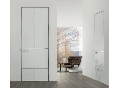 Hinged lacquered tempered glass door LAND | Lacquered door