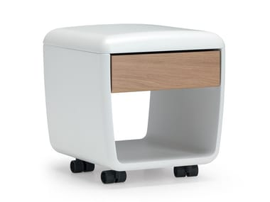 Polyurethane office drawer unit with casters LANDSCAPE | Office drawer unit