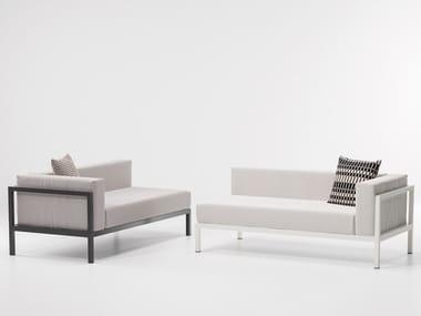 Modular fabric garden sofa LANDSCAPE   Garden sofa