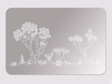 Rectangular wall-mounted mirror LANDSCAPE