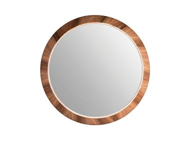 Round wall-mounted framed mirror LAPA