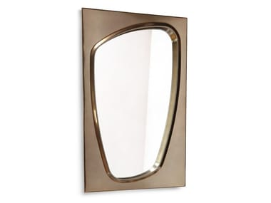 Framed wall-mounted wooden mirror LAPETO | Mirror