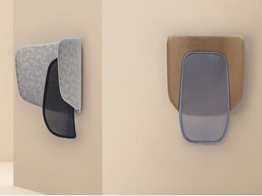 Acoustic wall-mounted fabric phone booth LAPSO