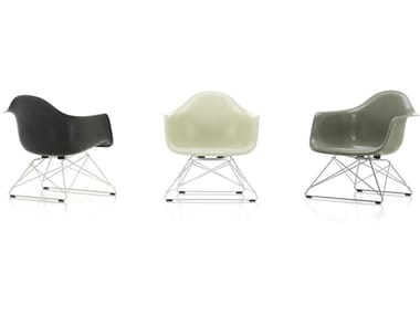 Glass-fibre easy chair with armrests LAR FIBERGLASS ARMCHAIR