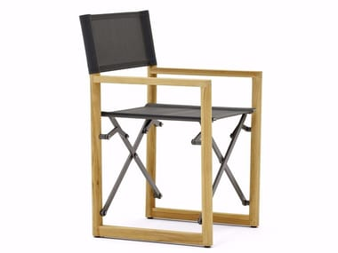 Folding garden chair with armrests LAREGISTA TEAK | Chair