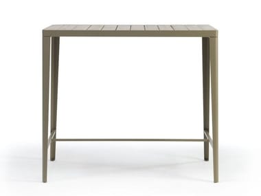 Rectangular teak high table LAREN | High table