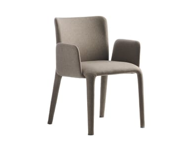 Upholstered fabric chair with armrests LARS | Chair with armrests