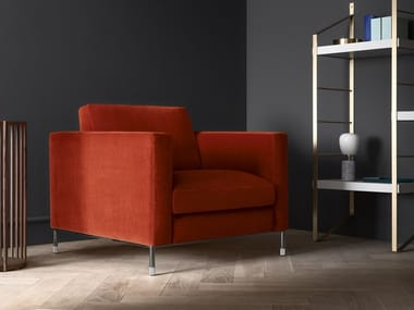 Fabric armchair with armrests LARSON   Armchair