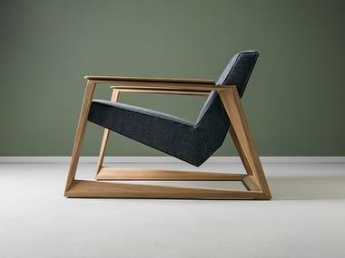 Fabric armchair with armrests LASTA | Armchair