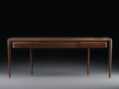 Rectangular solid wood console table with drawers LATUS | Console table