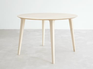 Round wooden dining table LAU   Round table