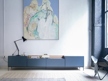 Low lacquered TV cabinet LAUKI | TV cabinet