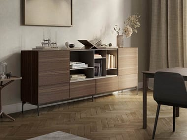 Wooden sideboard with drawers LAUKI   Wooden sideboard