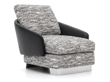 Contemporary style upholstered fabric armchair with armrests LAWSON | Armchair with armrests