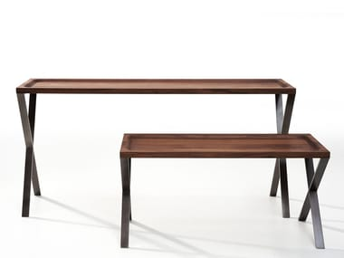 Rectangular wooden console table LAX | Wooden console table
