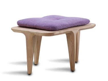 Fabric footstool / stool LAYAIR | Footstool