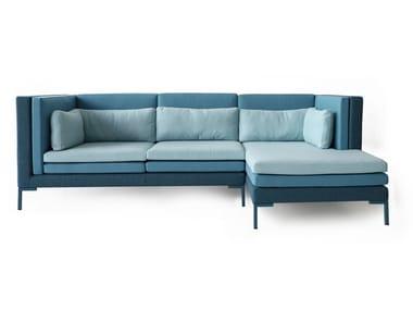 Modular fabric sofa with chaise longue LAYER | Sofa with chaise longue