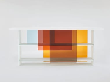Crystal bookcase LAYERS