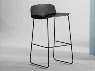 Barstool with footrest LAYERS   Barstool