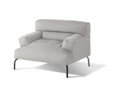 Upholstered fabric armchair with armrests LAZY BASTARD | Armchair