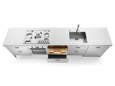Linear stainless steel kitchen LC 310-1 | Stainless steel kitchen