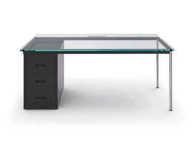 Schreibtisch aus Glas mit Schubladen LC10 BUREAU LA SEMAINE À PARIS