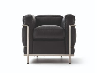Armchair with armrests 002 LC2 FAUTEUIL GRAND CONFORT DURABLE