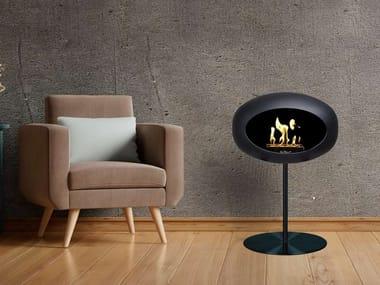 Freestanding bioethanol stainless steel fireplace GROUND STEEL