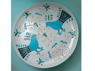 Round ceramic tray LE PAVONCELLE | Round tray