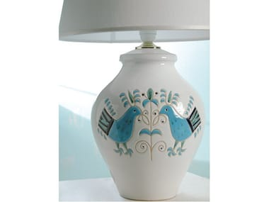 Direct-indirect light ceramic table lamp LE PAVONCELLE | Table lamp