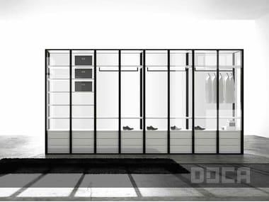 Glass wardrobe LEACH TRANSPARENTE