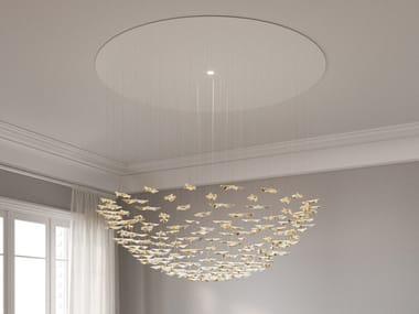 LED porcelain pendant lamp LEAF FALL LARGE CIRCLE