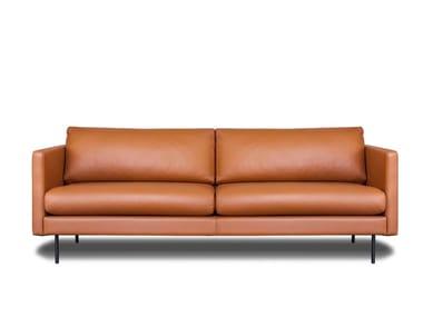Modular 3 seater leather sofa LEAF | Leather sofa