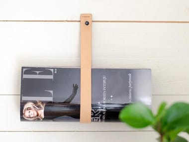 Tanned leather magazine rack LEATHER STROPS